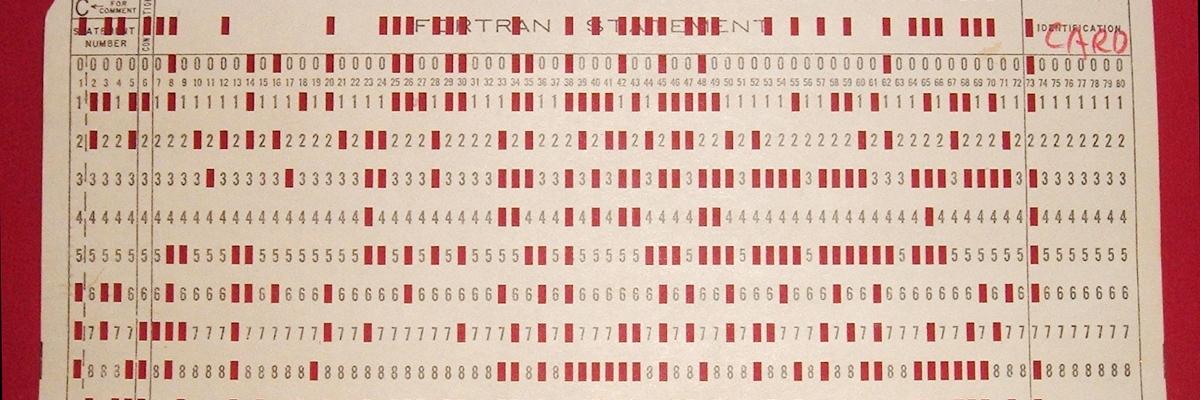 Tarjeta perforada de IBM.