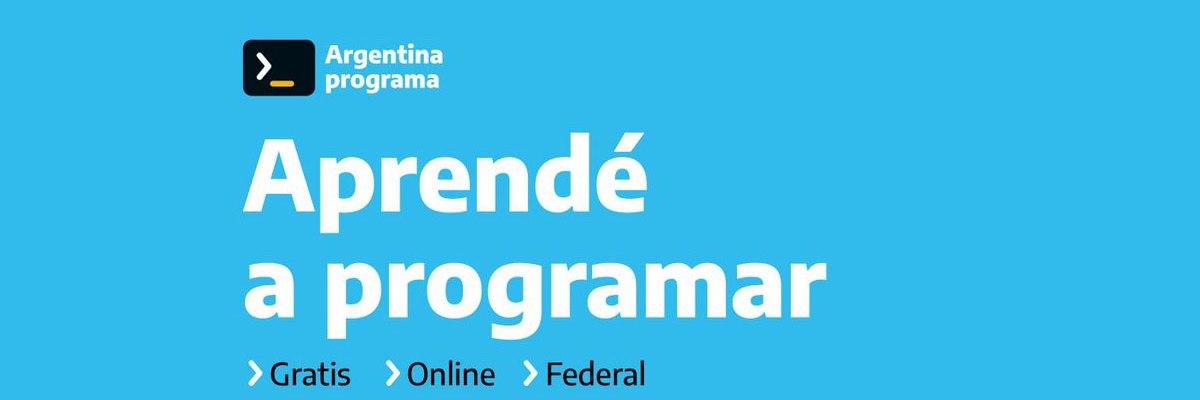El plan Argentina Programa es gratuito, virtual y asincrónico. Ya abrió la inscripción 2021 a su primera etapa.